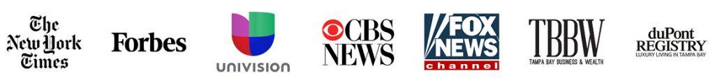 Media coverage logos